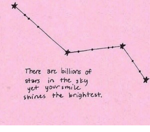 Stars, There, and  Ar: There ar billions of  stars in the sk  e yorsmilu  shines the bnightest