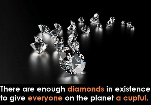 Memes, 🤖, and Diamonds: There are enough diamonds in existence  to give everyone on the planet a cupful.