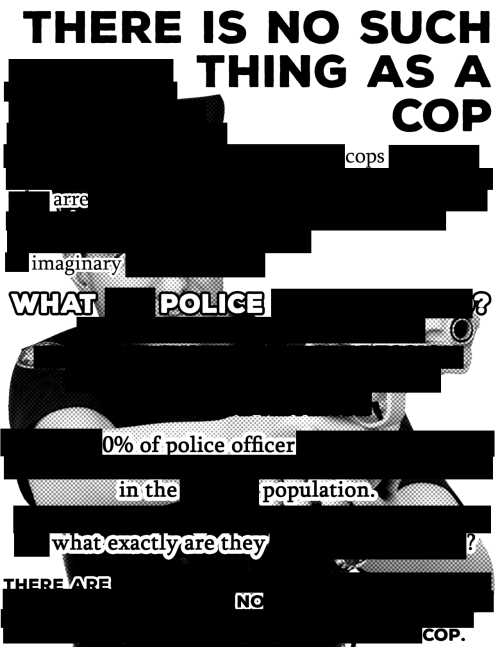 Police, Cop, and Thing: THERE IS NO SUCH  THING  CODS  arr  imaginary  WHAT  POLICE  0% of police offi  cer  in the  population.  what'exactlvare thev  COP