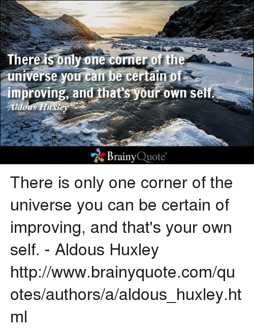 a corner of the universe quote