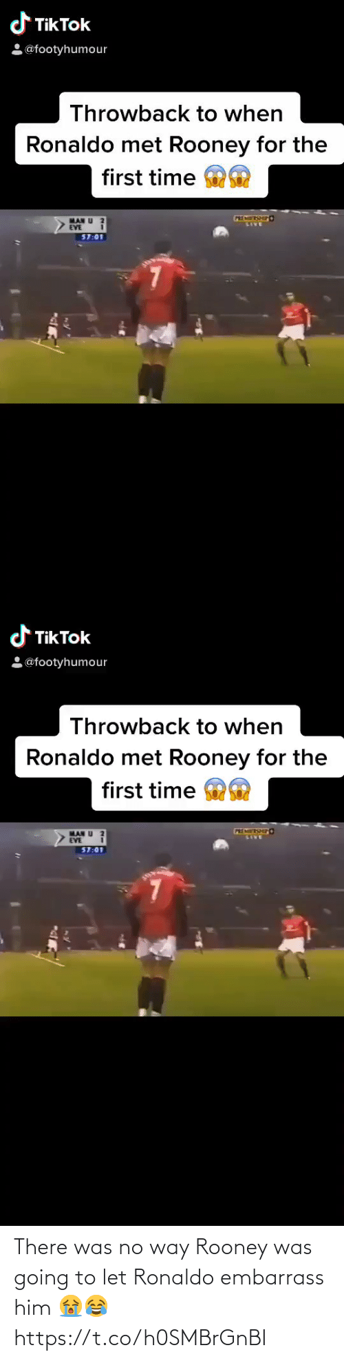 Ronaldo: There was no way Rooney was going to let Ronaldo embarrass him 😭😂 https://t.co/h0SMBrGnBI