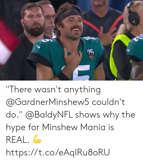 "Hype, Memes, and 🤖: ""There wasn't anything @GardnerMinshew5 couldn't do.""  @BaldyNFL shows why the hype for Minshew Mania is REAL. 💪 https://t.co/eAqIRu8oRU"