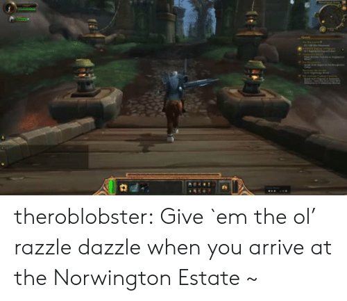 estate: theroblobster:  Give `em the ol' razzle dazzle when you arrive at the Norwington Estate ~