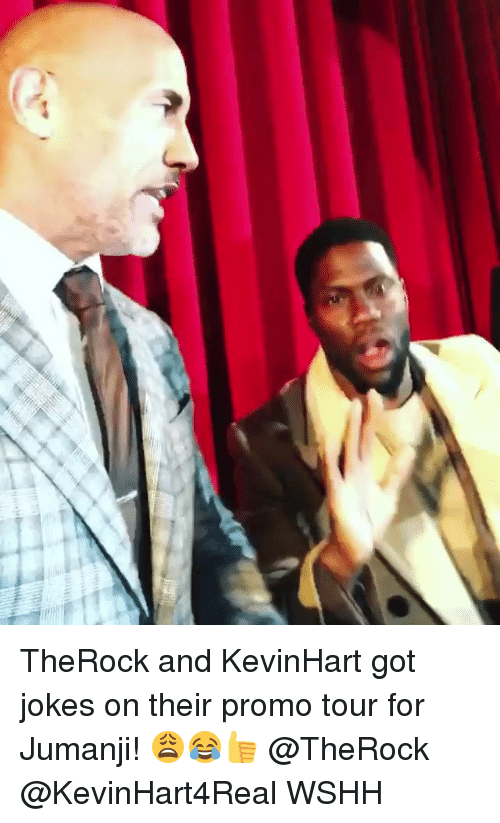 Memes, Wshh, and Jokes: TheRock and KevinHart got jokes on their promo tour for Jumanji! 😩😂👍 @TheRock @KevinHart4Real WSHH