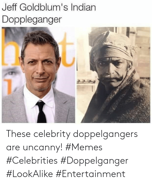 doppelganger: These celebrity doppelgangers are uncanny! #Memes #Celebrities #Doppelganger #LookAlike #Entertainment