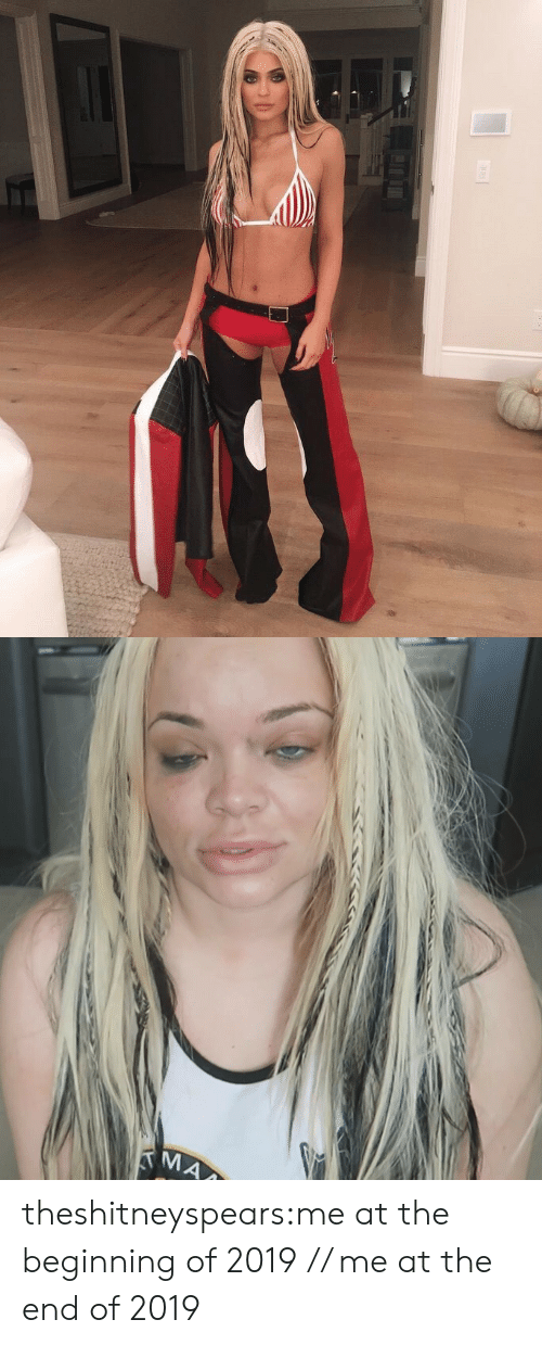 Target, Tumblr, and Blog: theshitneyspears:me at the beginning of 2019 // me at the end of 2019