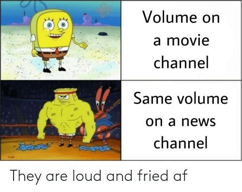 AF: They are loud and fried af