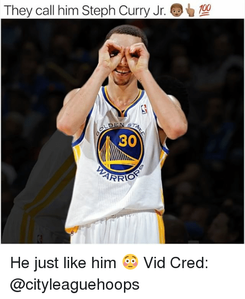 Anaconda, Memes, and Steph Curry: They call him Steph Curry Jr  100  30 He just like him 😳 Vid Cred: @cityleaguehoops