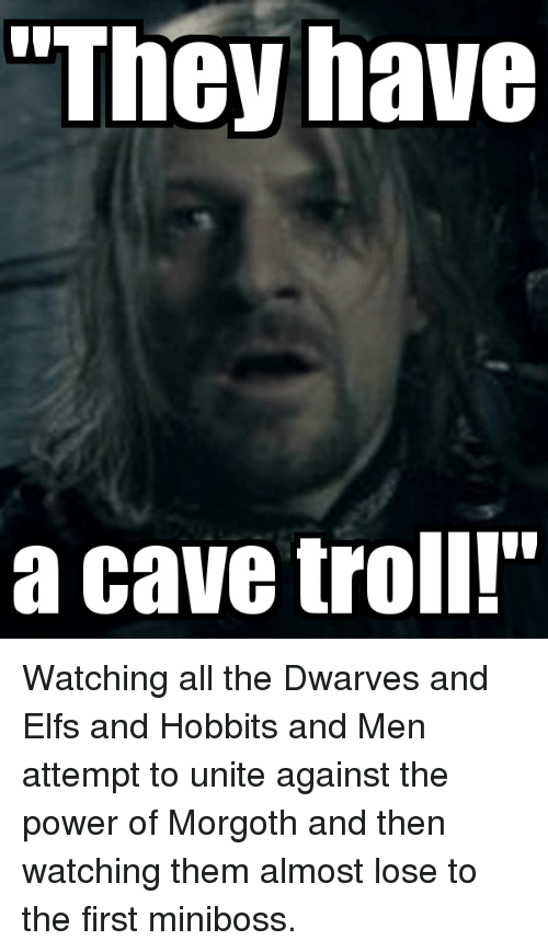 they have a cave troll troll meme on conservative memes