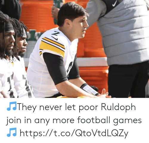 Football, Nfl, and Sports: 🎵They never let poor Ruldoph join in any more football games🎵 https://t.co/QtoVtdLQZy