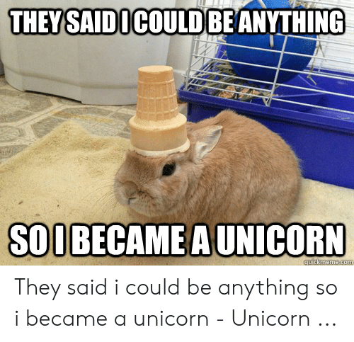Unicorn Unicorn: THEY SAIDICOULD BEANYTHING  SOOBECAME A UNICORN They said i could be anything so i became a unicorn - Unicorn ...