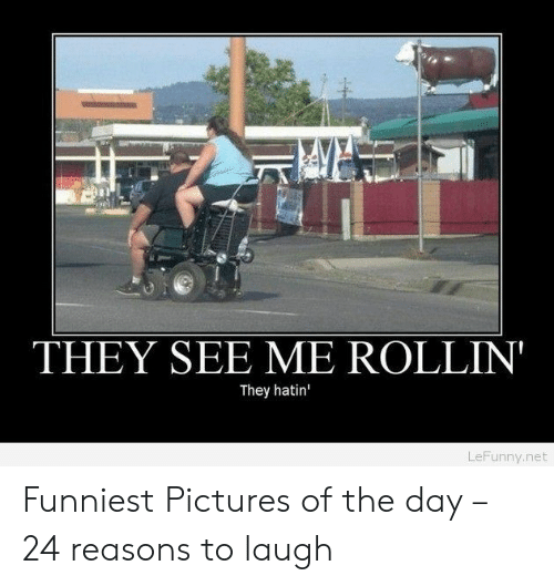 Rollin They Hatin: THEY SEE ME ROLLIN  They hatin'  LeFunny.net Funniest Pictures of the day – 24 reasons to laugh