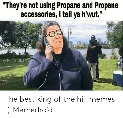 """Bobby V Memes: """"They're not using Propane and Propane  accessories, l tell ya h'wut.""""  @UncleChevy The best king of the hill memes :) Memedroid"""