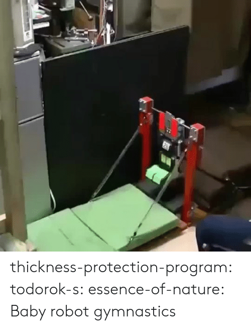Essence: thickness-protection-program:  todorok-s:  essence-of-nature:    Baby robot gymnastics