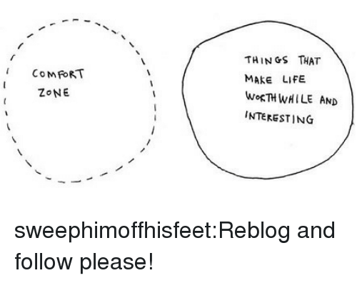 Life, Target, and Tumblr: THINGS THAT  MAKE LIFE  WoRTHWHILE AND  INTERESTING  COM FORT  ZONE sweephimoffhisfeet:Reblog and follow please!