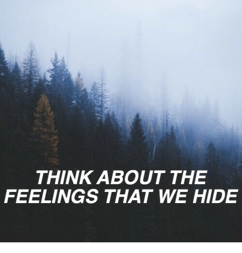 Hide, Think, and Feelings: THINK ABOUT THE  FEELINGS THAT WE HIDE
