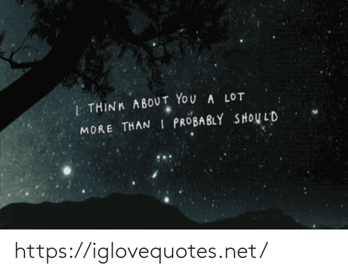 Net, Think, and You: | THINK ABOUT YOU A LOT  MORE THAN I PROBABLY SHOULD https://iglovequotes.net/
