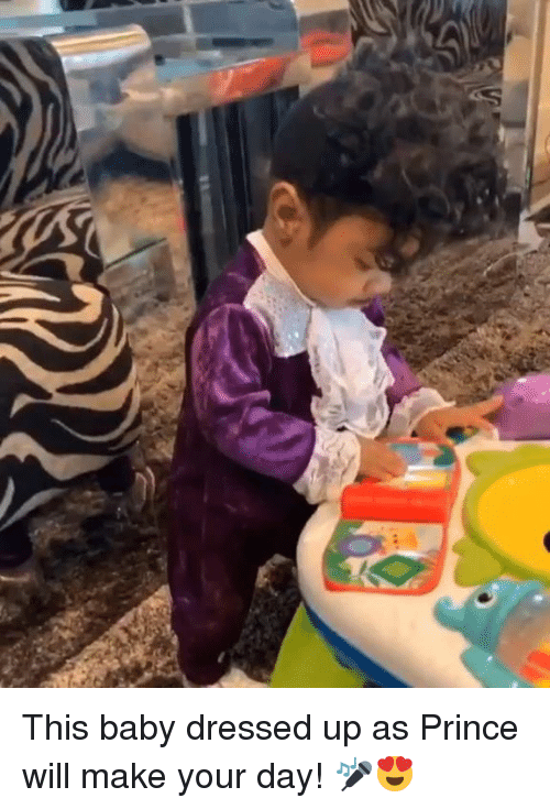 Prince, Baby, and Day: This baby dressed up as Prince will make your day! 🎤😍