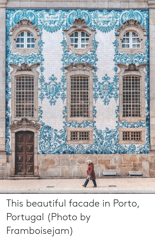 Beautiful, Portugal, and Facade: This beautiful facade in Porto, Portugal (Photo by Framboisejam)