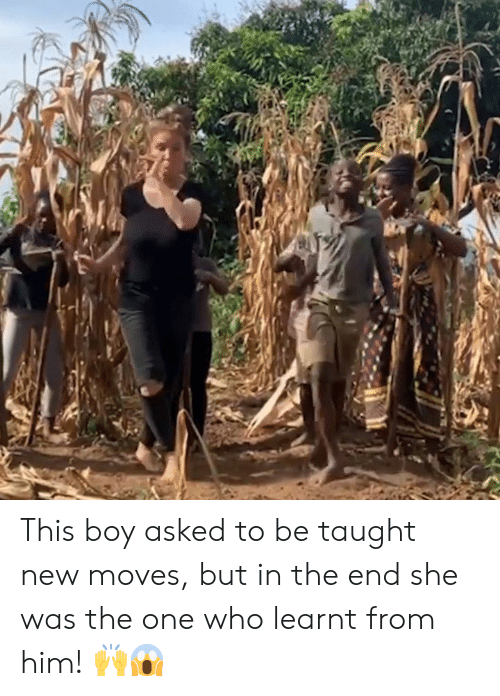 Boy, Who, and Him: This boy asked to be taught new moves, but in the end she was the one who learnt from him! 🙌😱