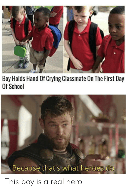 hero: This boy is a real hero