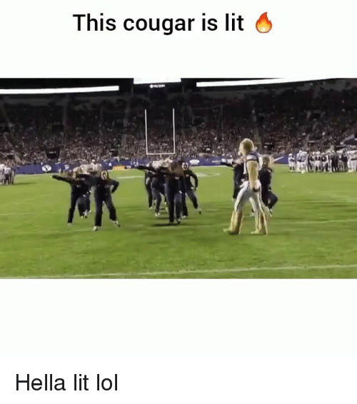 Cougared: This cougar is lit 4 Hella lit lol