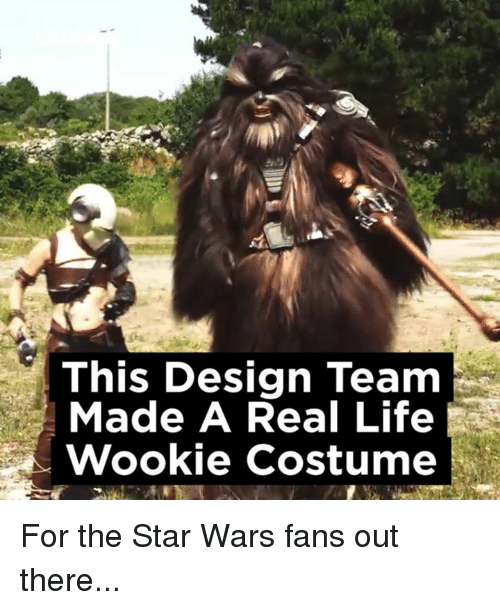 wookies: This Design Team  Made A Real Life  Wookie costume For the Star Wars fans out there...