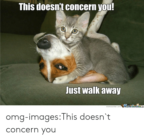 Omg, Tumblr, and Blog: This doesnt concern you  Just walk away  memecenter.comMameCentere omg-images:This doesn`t concern you