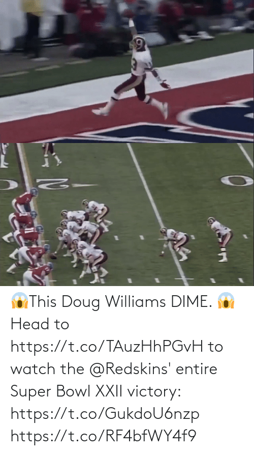Super Bowl: 😱This Doug Williams DIME. 😱  Head to https://t.co/TAuzHhPGvH to watch the @Redskins' entire Super Bowl XXII victory: https://t.co/GukdoU6nzp https://t.co/RF4bfWY4f9