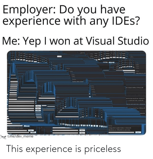 Experience: This experience is priceless