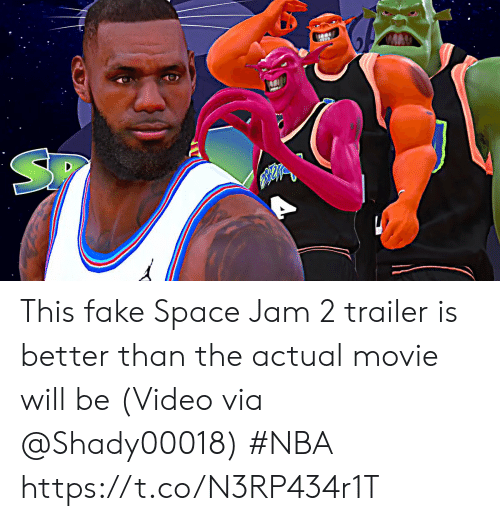 Fake, Nba, and Sports: This fake Space Jam 2 trailer is better than the actual movie will be   (Video via @Shady00018) #NBA  https://t.co/N3RP434r1T