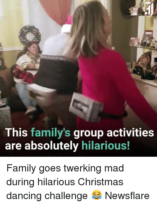 Christmas, Dancing, and Family: This family's group activities  are absolutely hilarious! Family goes twerking mad during hilarious Christmas dancing challenge 😂  Newsflare
