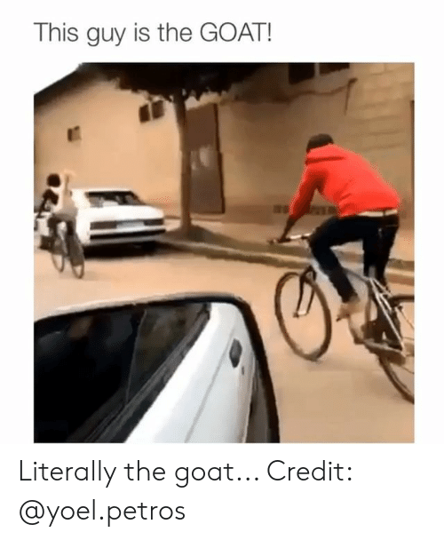 The Goat: This guy is the GOAT! Literally the goat... Credit: @yoel.petros