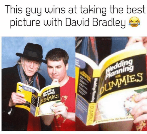 Game of Thrones, Best, and Wedding: This guy wins at taking the best  picture with Dauid Bradley  10:PUR ICEANOFIRE  VWedding  Planning  POR  Medding  UMMIES  bUMMIES  Reencfor the Rest of  Wedding Planning DES  Welding oingD3