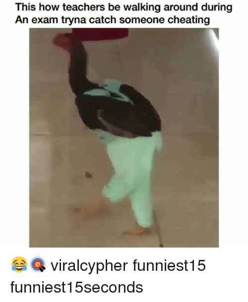 Cheating, Funny, and How: This how teachers be walking around during  An exam tryna catch someone cheating 😂🎯 viralcypher funniest15 funniest15seconds