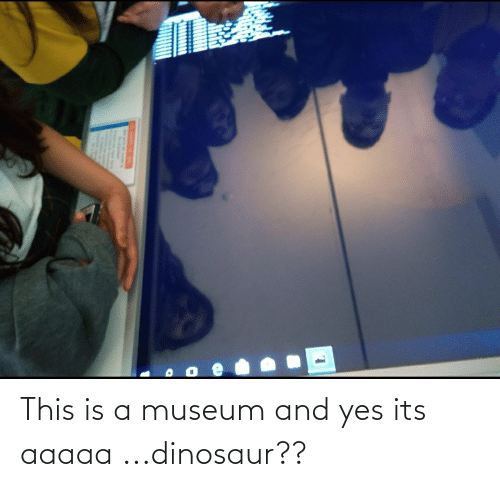 Dinosaur: This is a museum and yes its aaaaa ...dinosaur??