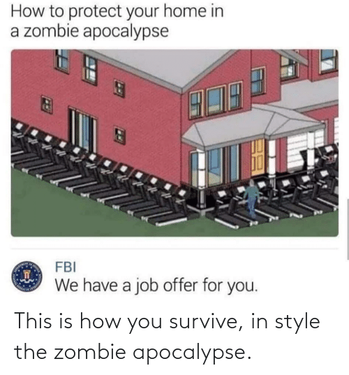 Zombie: This is how you survive, in style the zombie apocalypse.