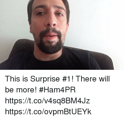 Memes, 🤖, and Will: This is Surprise #1! There will be more! #Ham4PR https://t.co/v4sq8BM4Jz https://t.co/ovpmBtUEYk