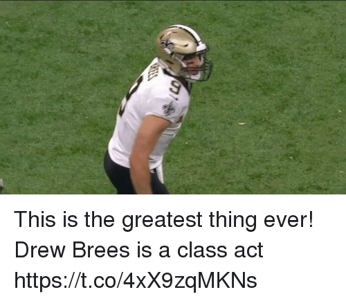 Memes, Drew Brees, and 🤖: This is the greatest thing ever!  Drew Brees is a class act  https://t.co/4xX9zqMKNs