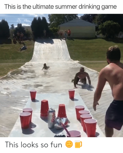 Drinking, Summer, and Game: This is the ultimate summer drinking game  Coors This looks so fun 🌞🍺