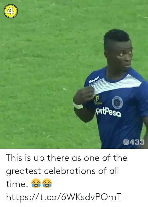 The Greatest: This is up there as one of the greatest celebrations of all time. 😂😂 https://t.co/6WKsdvPOmT