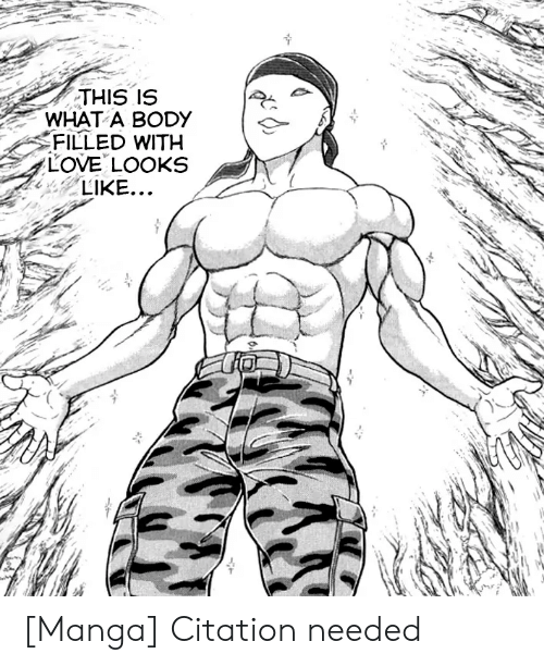 Filled: THIS IS  WHAT A BODY  FILLED WITH  LOVE LOOKS  LIKE... [Manga] Citation needed