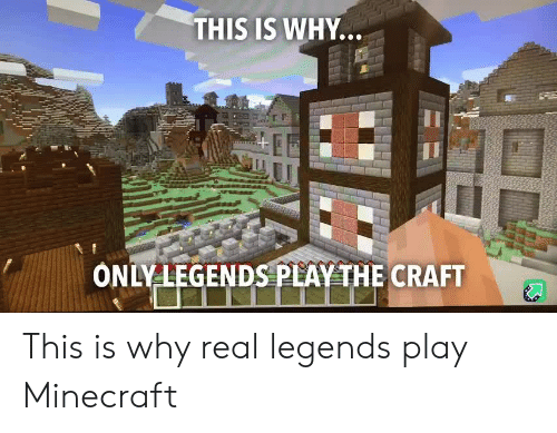 craft: THIS IS WHY...  ONLY LEGENDS PLAY THE CRAFT This is why real legends play Minecraft