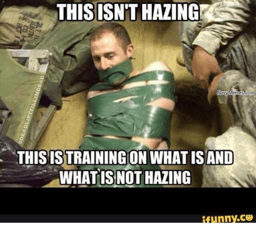Navy, Train, and What Is: THIS ISN'T HAZING  Navy Memes 30m  THIS TRAINING ON  WHAT ISAND  WHAT IS NOT HAZING  ifunny.CO