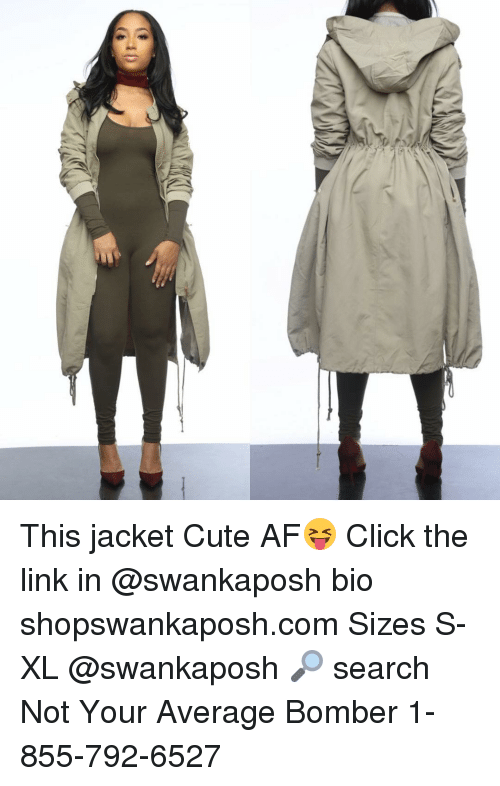 Averagers: This jacket Cute AF😝 Click the link in @swankaposh bio shopswankaposh.com Sizes S-XL @swankaposh 🔎 search Not Your Average Bomber 1-855-792-6527