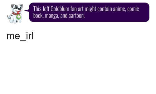 Anime, Book, and Cartoon: This Jeff Goldblum fan art might contain anime, comic  book, manga, and cartoon.
