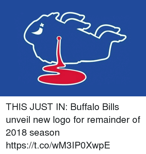Football, Nfl, and Sports: THIS JUST IN: Buffalo Bills unveil new logo for remainder of 2018 season https://t.co/wM3IP0XwpE