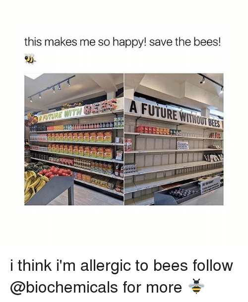 Future, Girl, and Happy: this makes me so happy! save the bees!  A FUTURE NTTUULPERS i think i'm allergic to bees follow @biochemicals for more 🐝