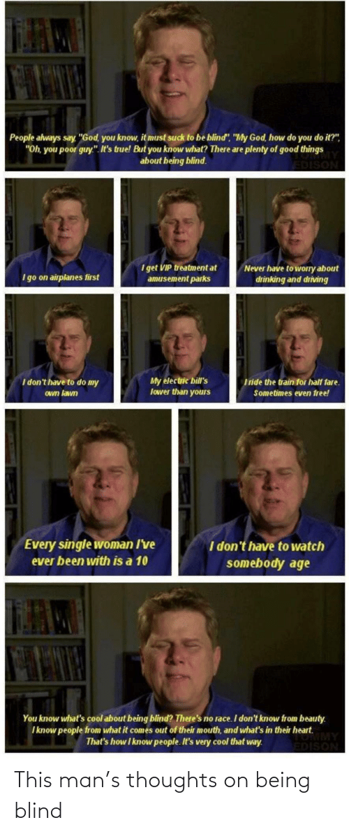 this man: This man's thoughts on being blind
