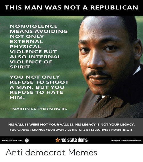 THIS MAN WAS NOT a REPUBLICAN NONVIOLENCE MEANS AVOIDING NOT